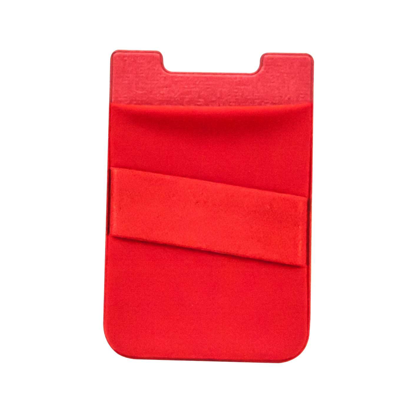 Billboard Adhesive Wallet/ Card Holder For Smartphones Red