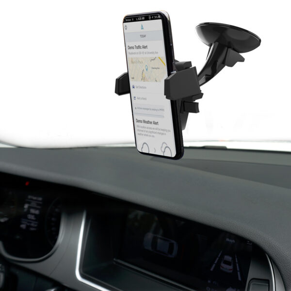 One Button Open Car Holder & 6.6ft Adhesive Pad