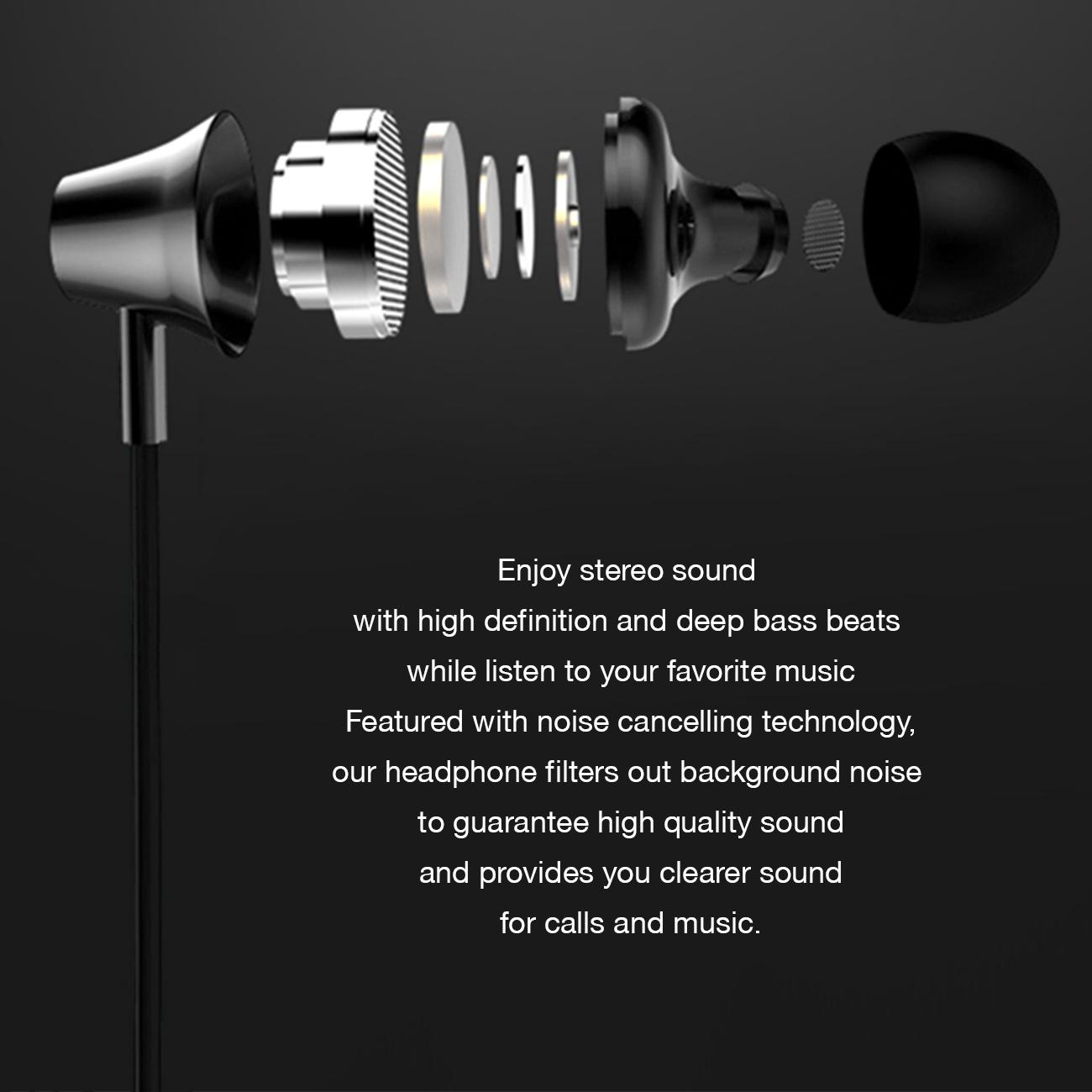 Universal Bluetooth Earphones Black