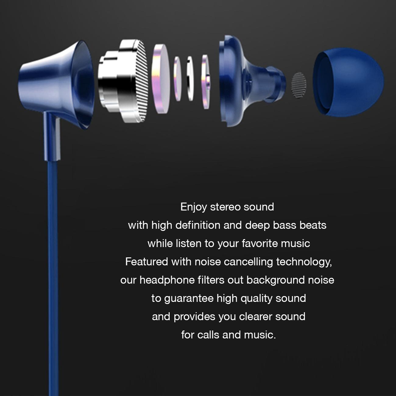 Universal Bluetooth Earphones Blue