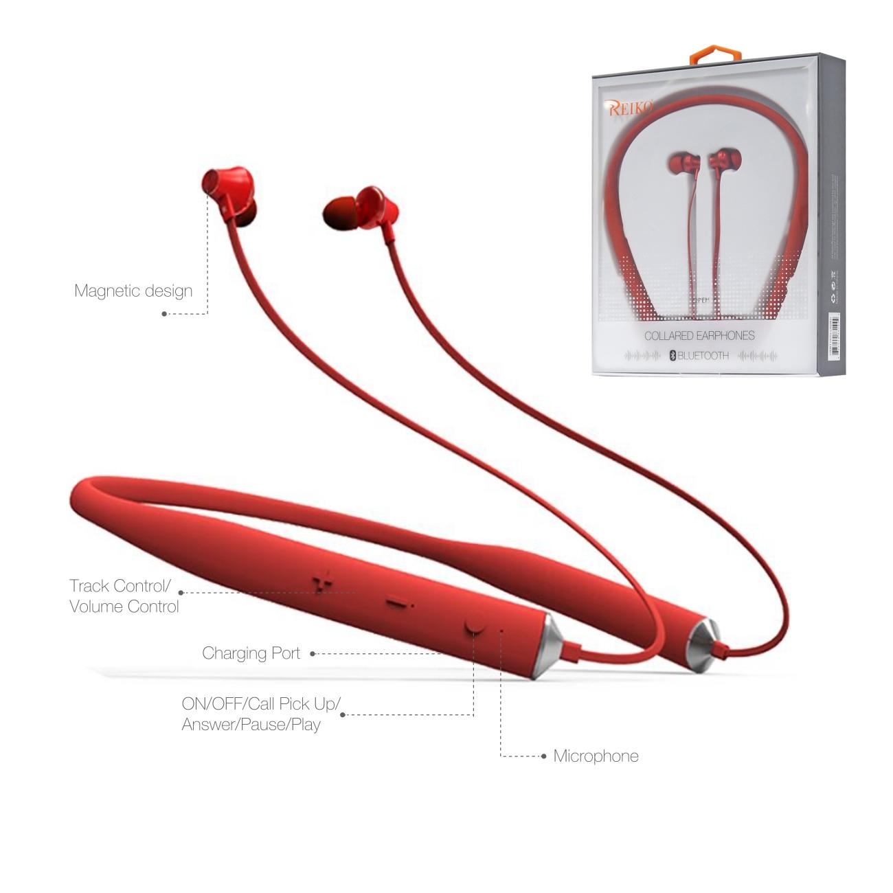 Universal Bluetooth Earphones Red