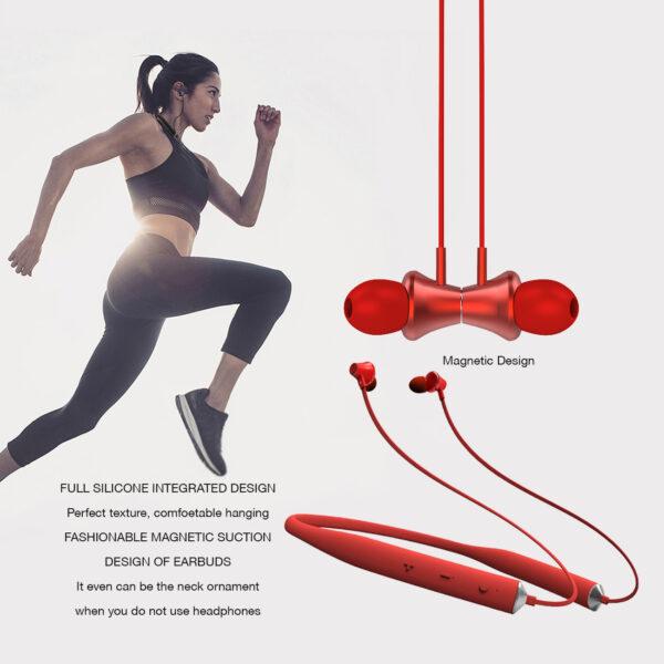 Reiko Universal Bluetooth Earphones Red
