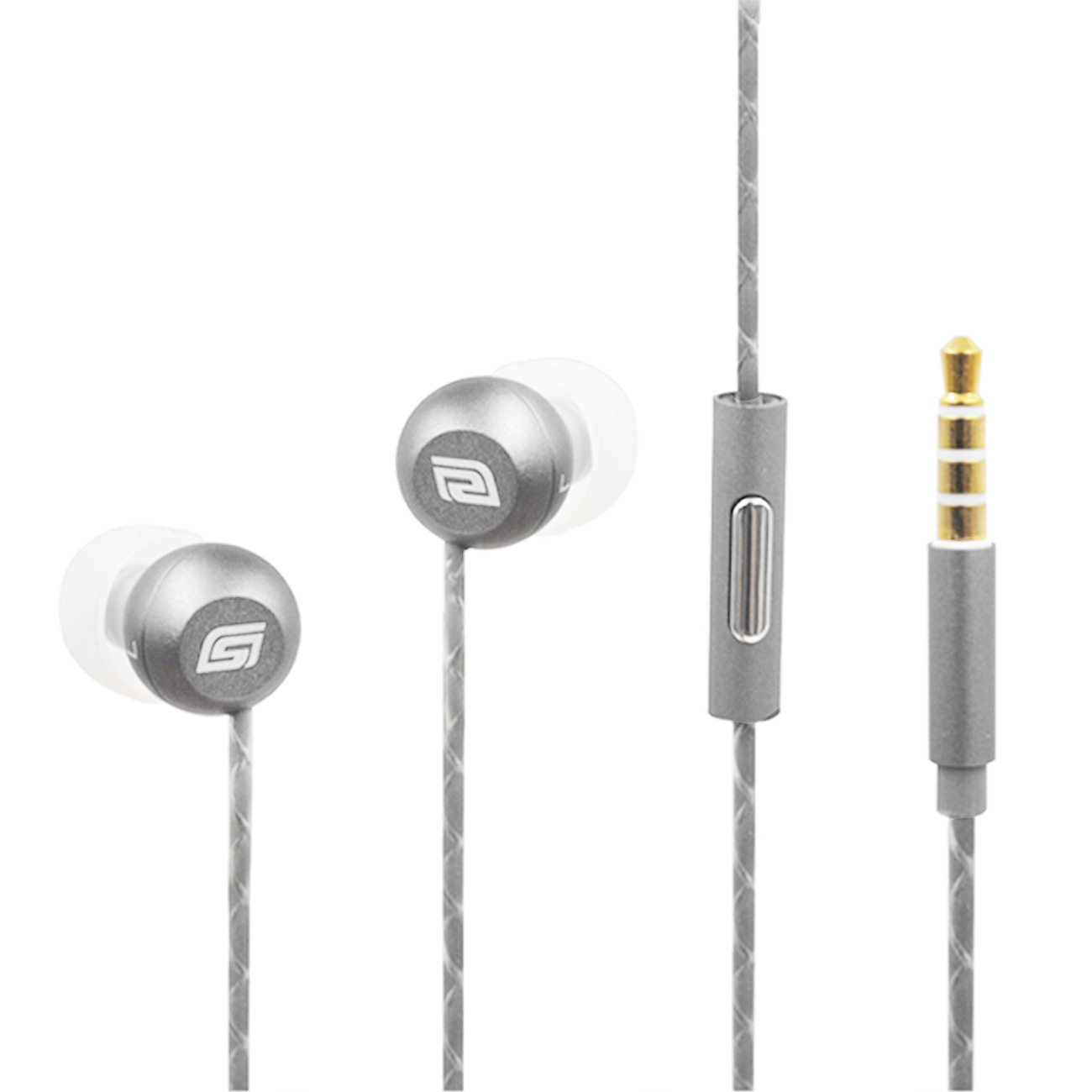 Fashion Metal In-ear headphones in Silver