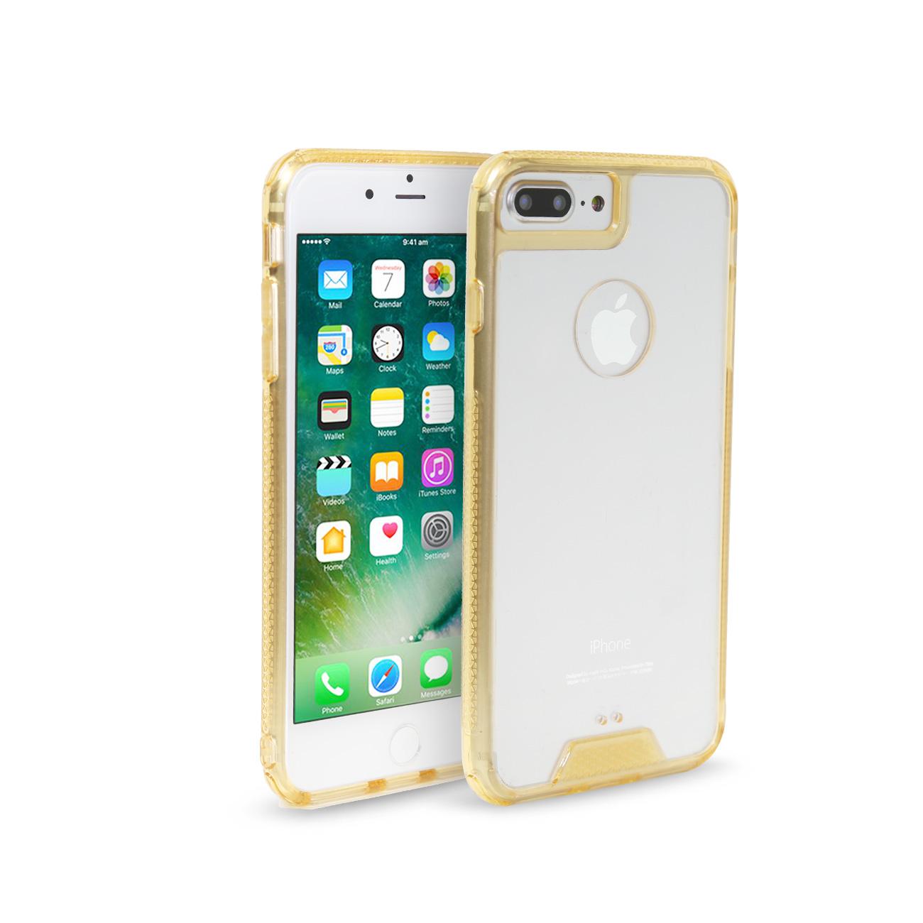iPhone 7/ 8 Slim Bumper Tpu Back Cover In Clear Gold