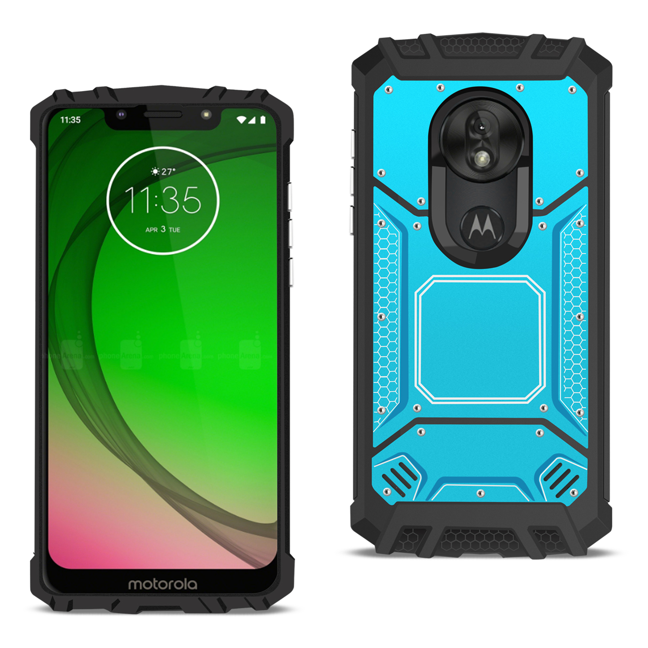 MOTOROLA MOTO G7 PLAY_Metallic Front Cover Case In_Blue