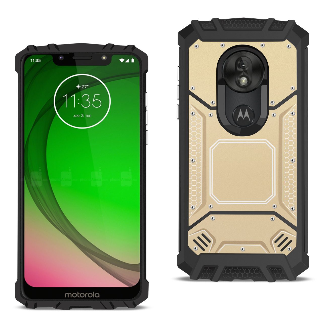 MOTOROLA MOTO G7 PLAY_Metallic Front Cover Case In_Gold