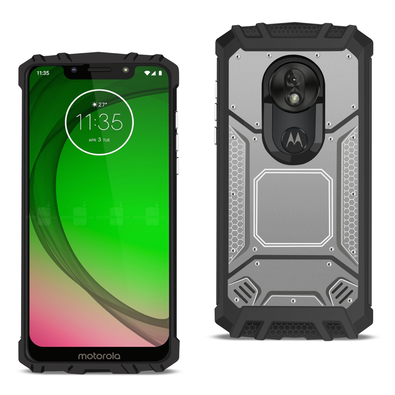 MOTOROLA MOTO G7 PLAY_Metallic Front Cover Case In_Gray