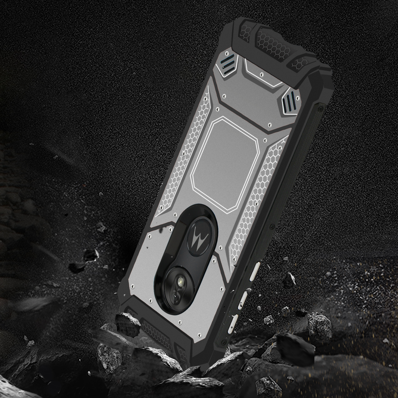 MOTOROLA MOTO G7 PLAY_Metallic Front Cover Case In_Gray
