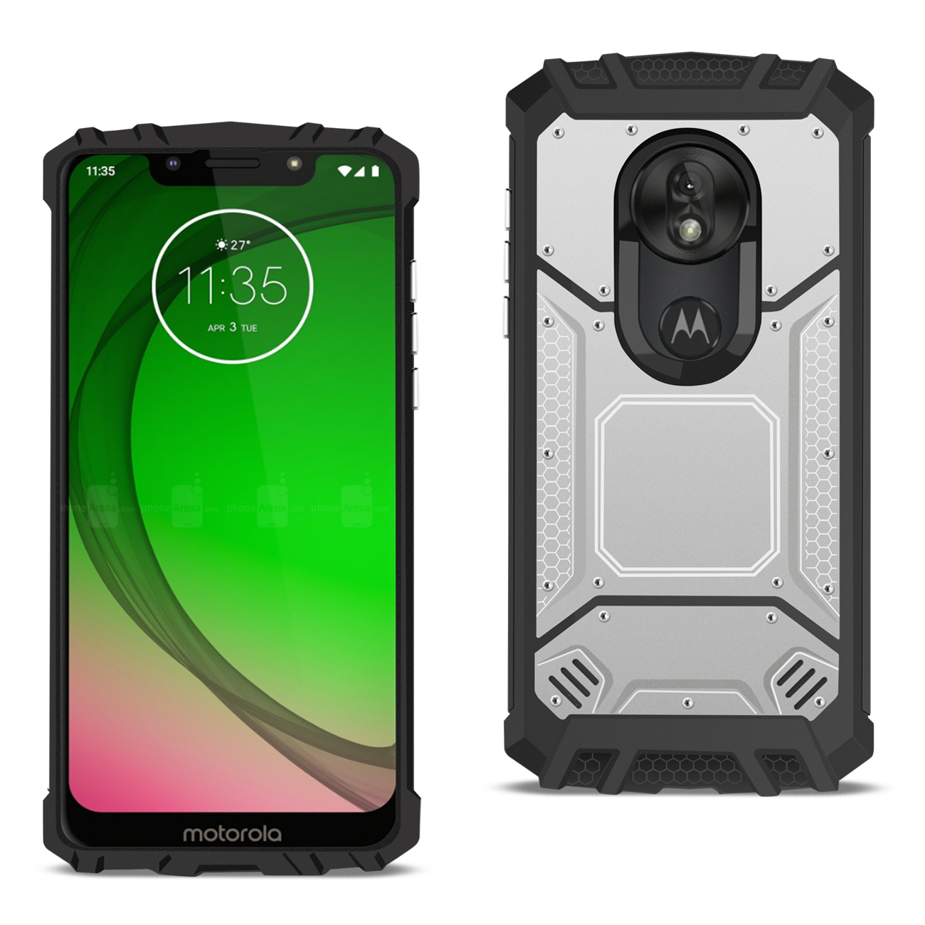 MOTOROLA MOTO G7 PLAY_Metallic Front Cover Case In_Silver