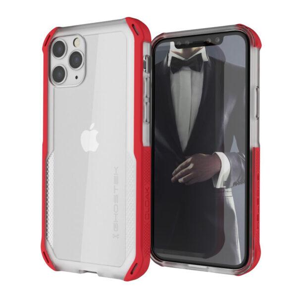 Ghostek Cloak4 Red/Clear Shockproof Hybrid Case for Apple iPhone 11 Pro