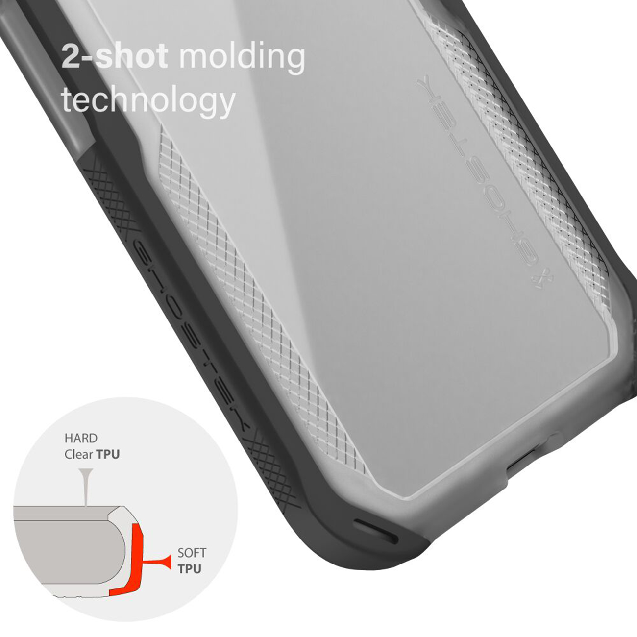 Cloak4 Red/Clear Shockproof Hybrid Case for Apple iPhone 11 Pro