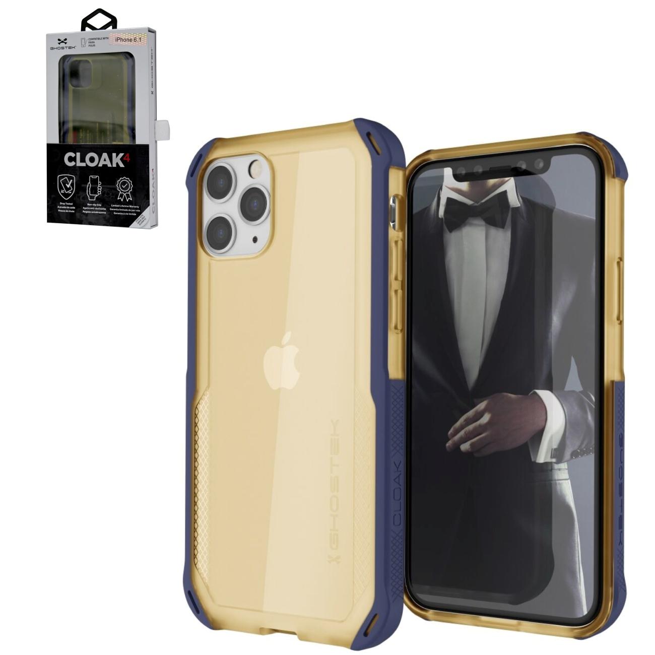 Ghostek Cloak4 Blue/Gold Shockproof Hybrid Case for Apple iPhone 11 Pro