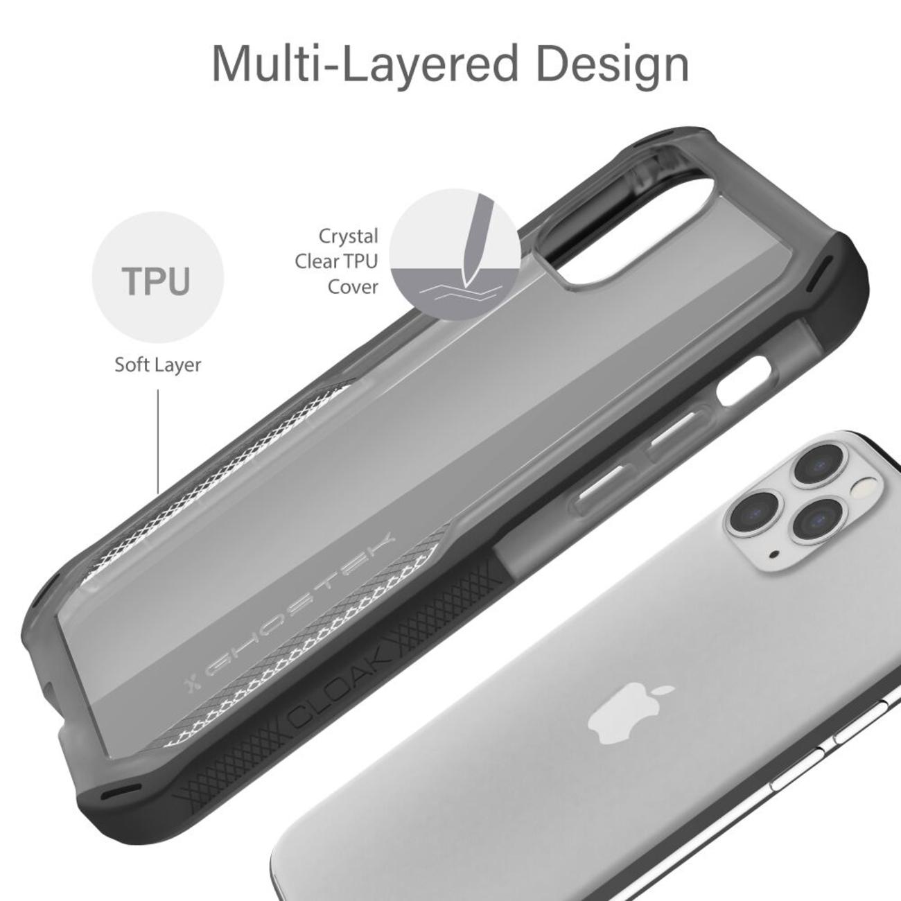 Cloak4 Blue/Gold Shockproof Hybrid Case for Apple iPhone 11 Pro
