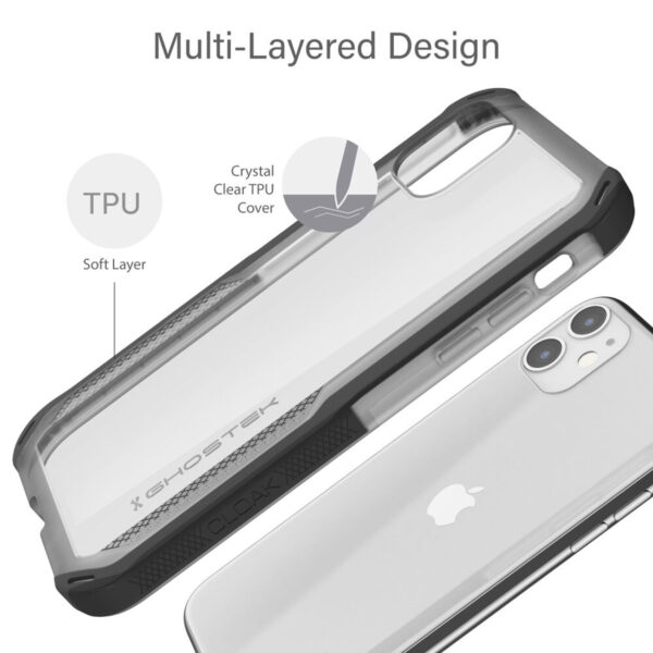 Ghostek Cloak4 Red/Clear Shockproof Hybrid Case for Apple iPhone 11