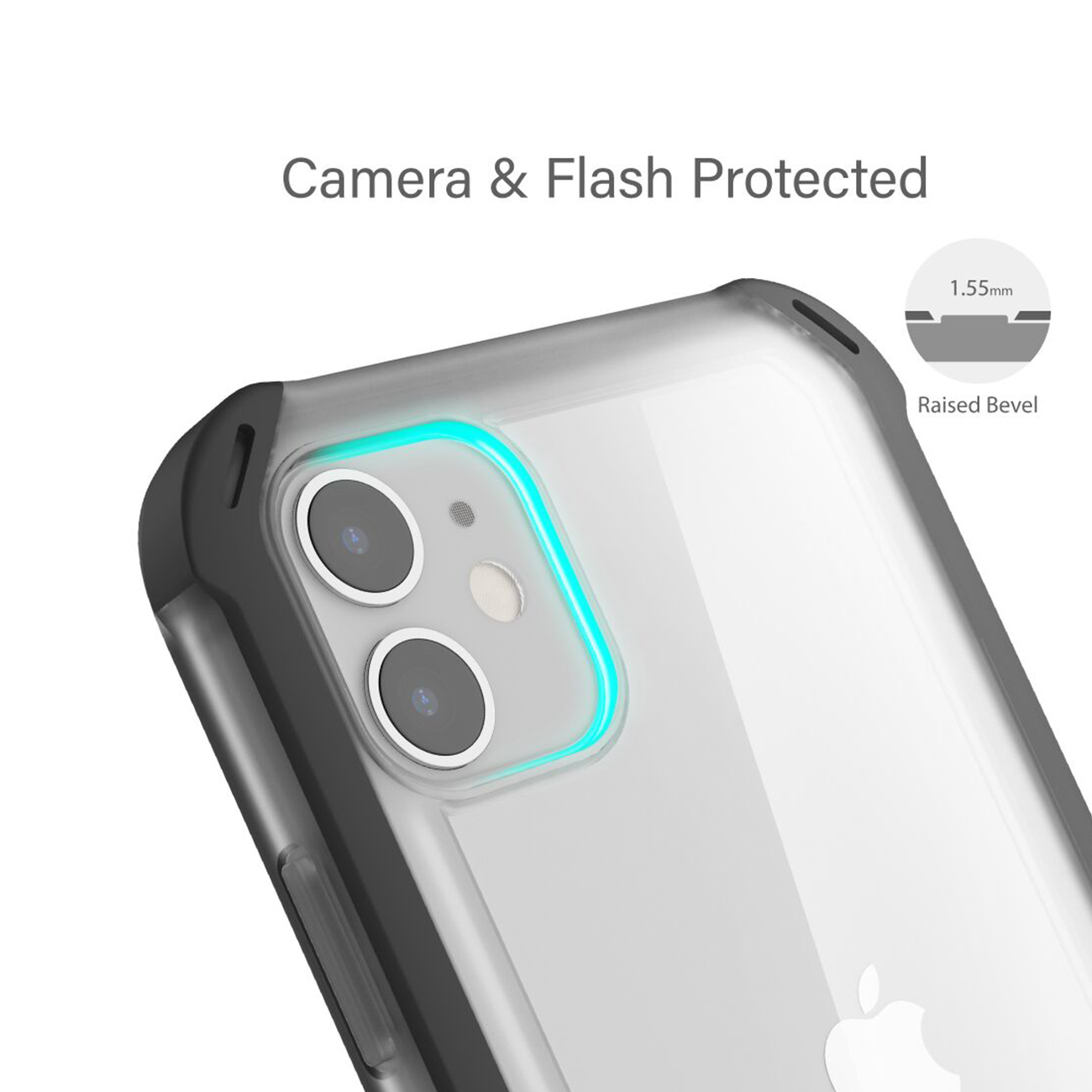 Cloak4 Red/Clear Shockproof Hybrid Case for Apple iPhone 11