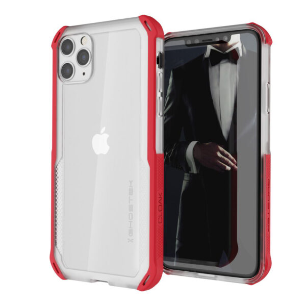 Ghostek Cloak4 Red/Clear Shockproof Hybrid Case for Apple iPhone 11 Pro Max