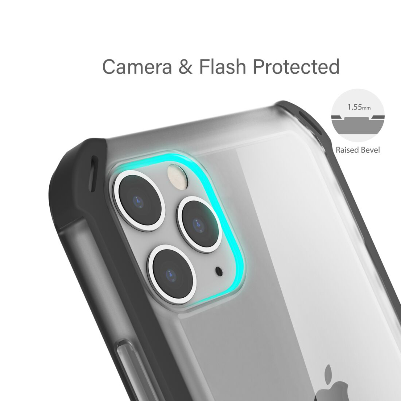 Cloak4 Red/Clear Shockproof Hybrid Case for Apple iPhone 11 Pro Max