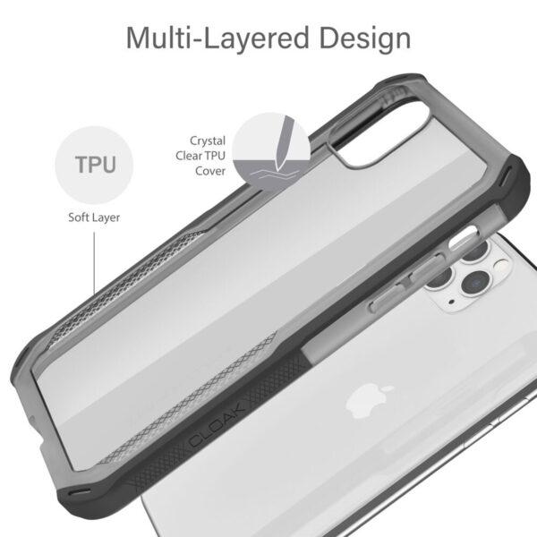 Ghostek Cloak4 Pink Shockproof Hybrid Case for Apple iPhone 11 Pro Max