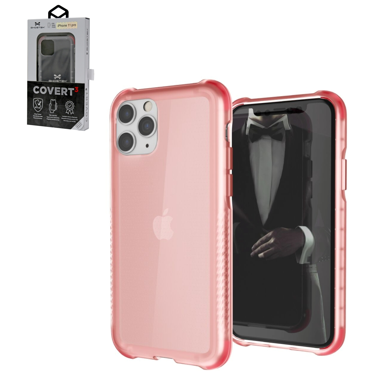 Covert3 Rose Ultra-Thin Clear Case for Apple iPhone Pro