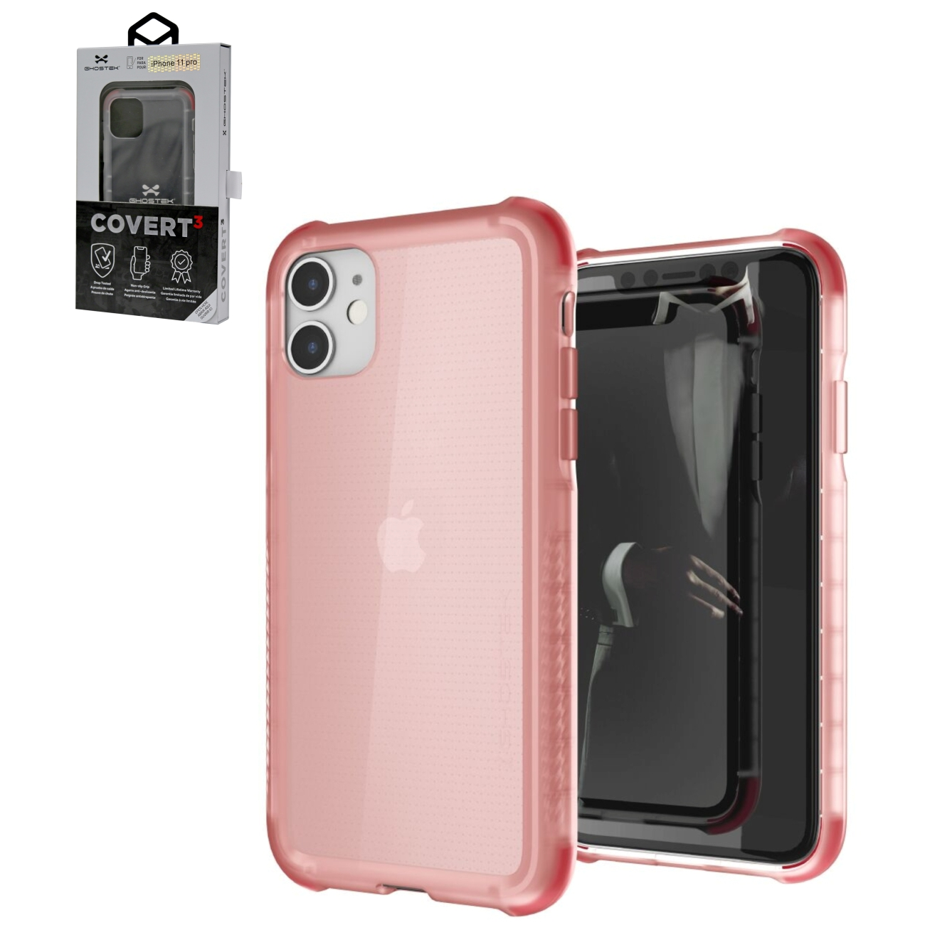 Covert3 Rose Ultra-Thin Clear Case for Apple iPhone