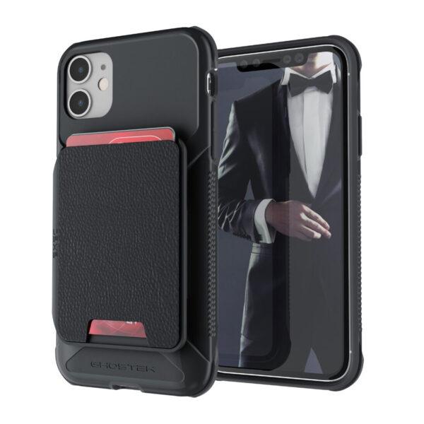 Ghostek Exec4 Black Leather Flip  Wallet Case for Apple iPhone 11