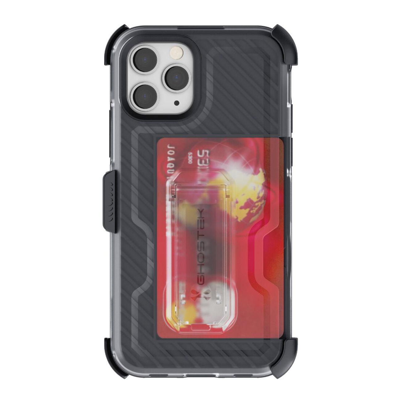 Iron Armor3  Black  Rugged Case + Holster with tempered glass for Apple iPhone 11 Pro