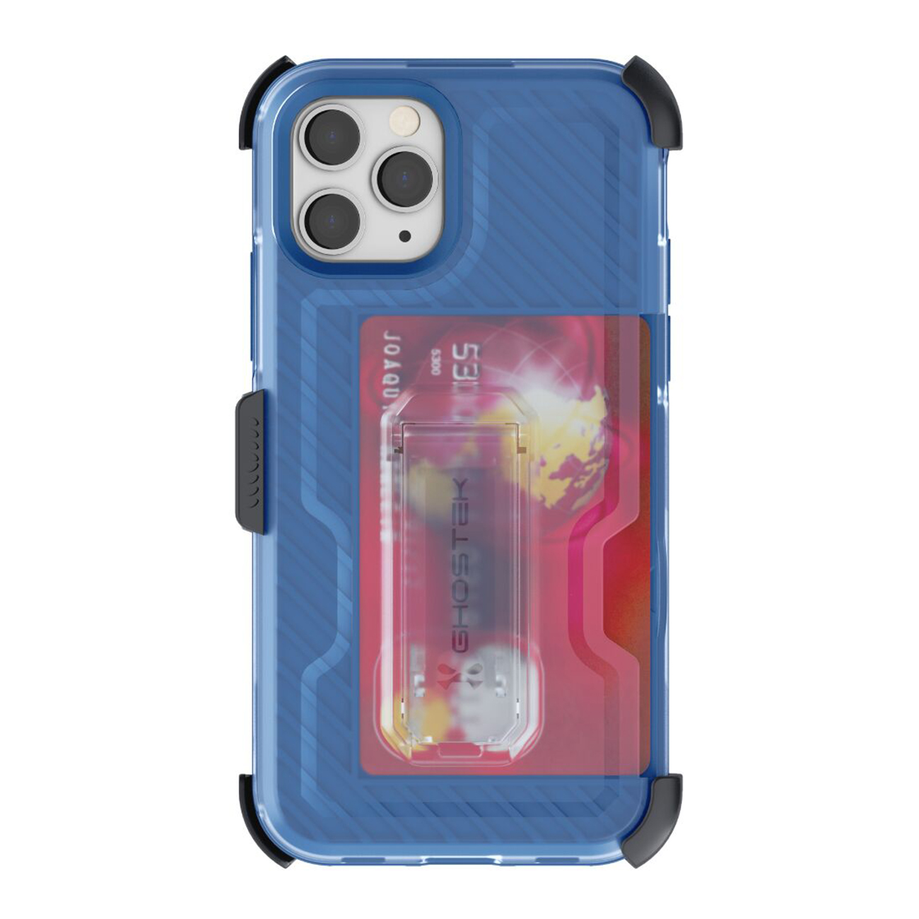 Iron Armor3 Blue Rugged Case + Holster with tempered glass  for Apple iPhone 11 Pro