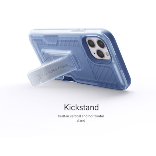 Ghostek Iron Armor3 Blue Rugged Case + Holster with tempered glass  for Apple iPhone 11 Pro