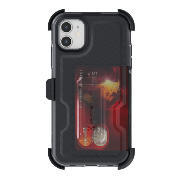 Ghostek Iron Armor3  Black  Rugged Case + Holster with tempered glass for Apple iPhone 11
