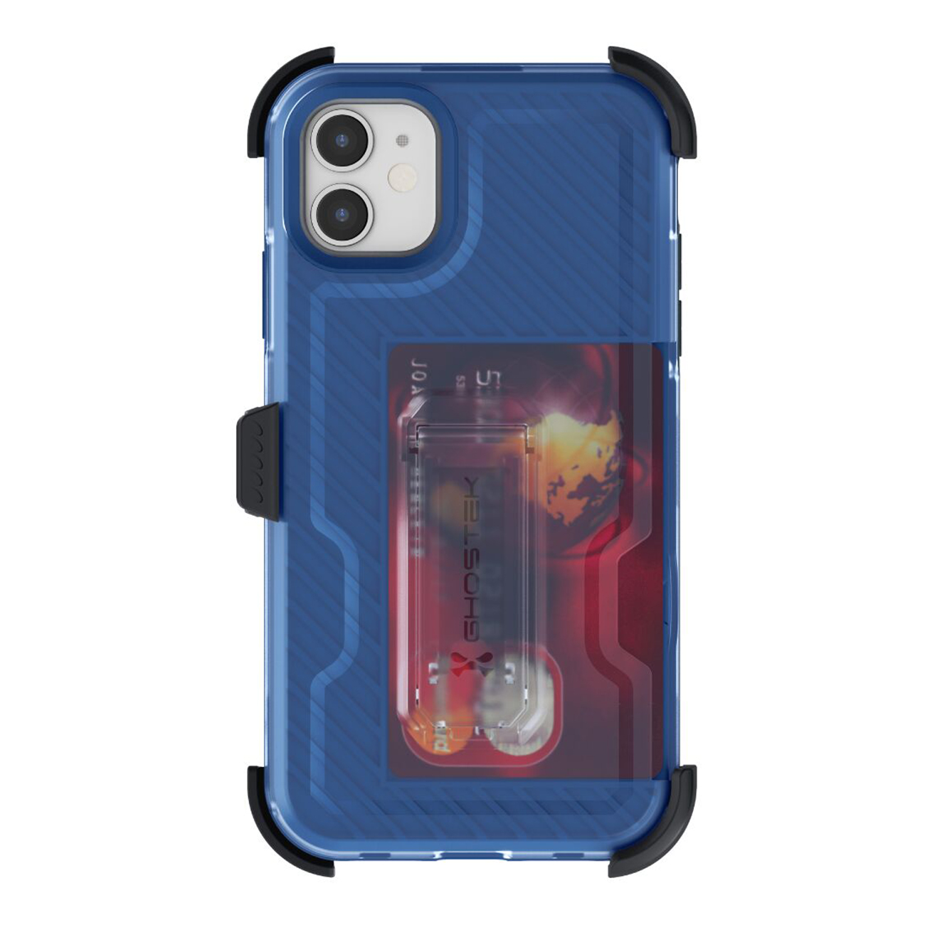 Iron Armor3 Blue Rugged Case + Holster with tempered glass  for Apple iPhone 11