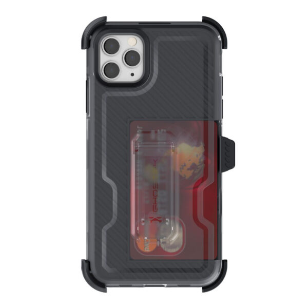Ghostek Iron Armor3  Black  Rugged Case + Holster with tempered glass for Apple iPhone 11 Pro Max