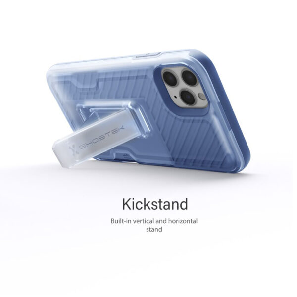 Ghostek Iron Armor3 Blue Rugged Case + Holster with tempered glass  for Apple iPhone 11  Pro Max