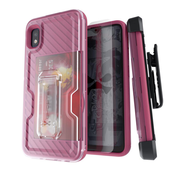 Ghostek Iron Armor 3 Rose Gold Rugged Case + Holster with tempered glass for Samsung Galaxy A10e