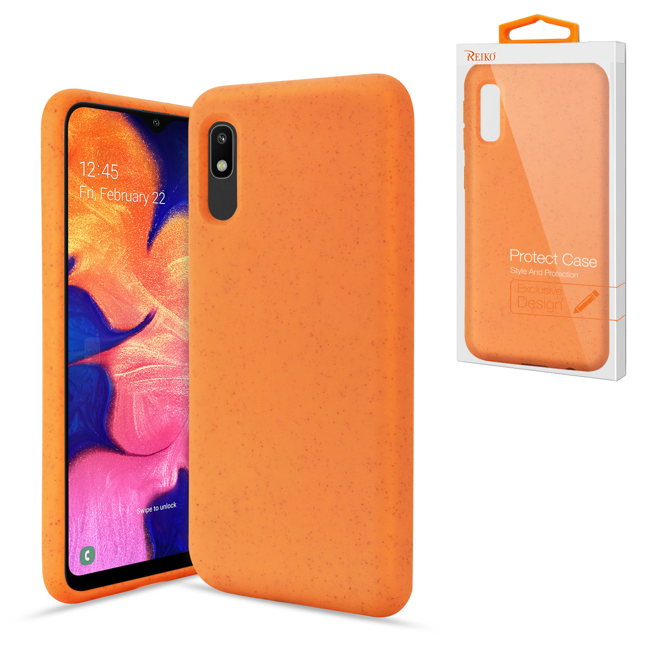 SAMSUNG GALAXY A10E Wheat Bran Material Silicone Phone Case In Orange