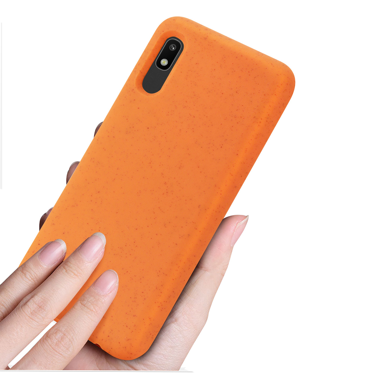 SAMSUNG GALAXY A10E Wheat Bran Material Silicone Phone Case In Orange