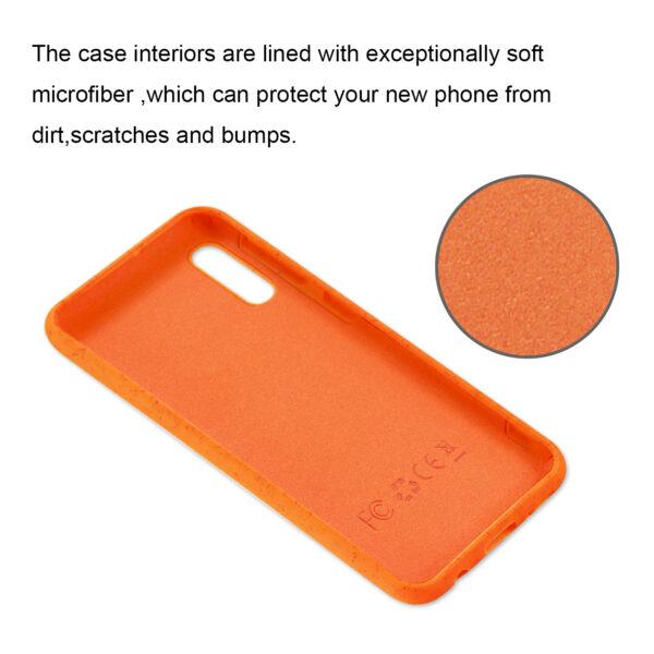 Reiko SAMSUNG GALAXY A10E Wheat Bran Material Silicone Phone Case In Orange