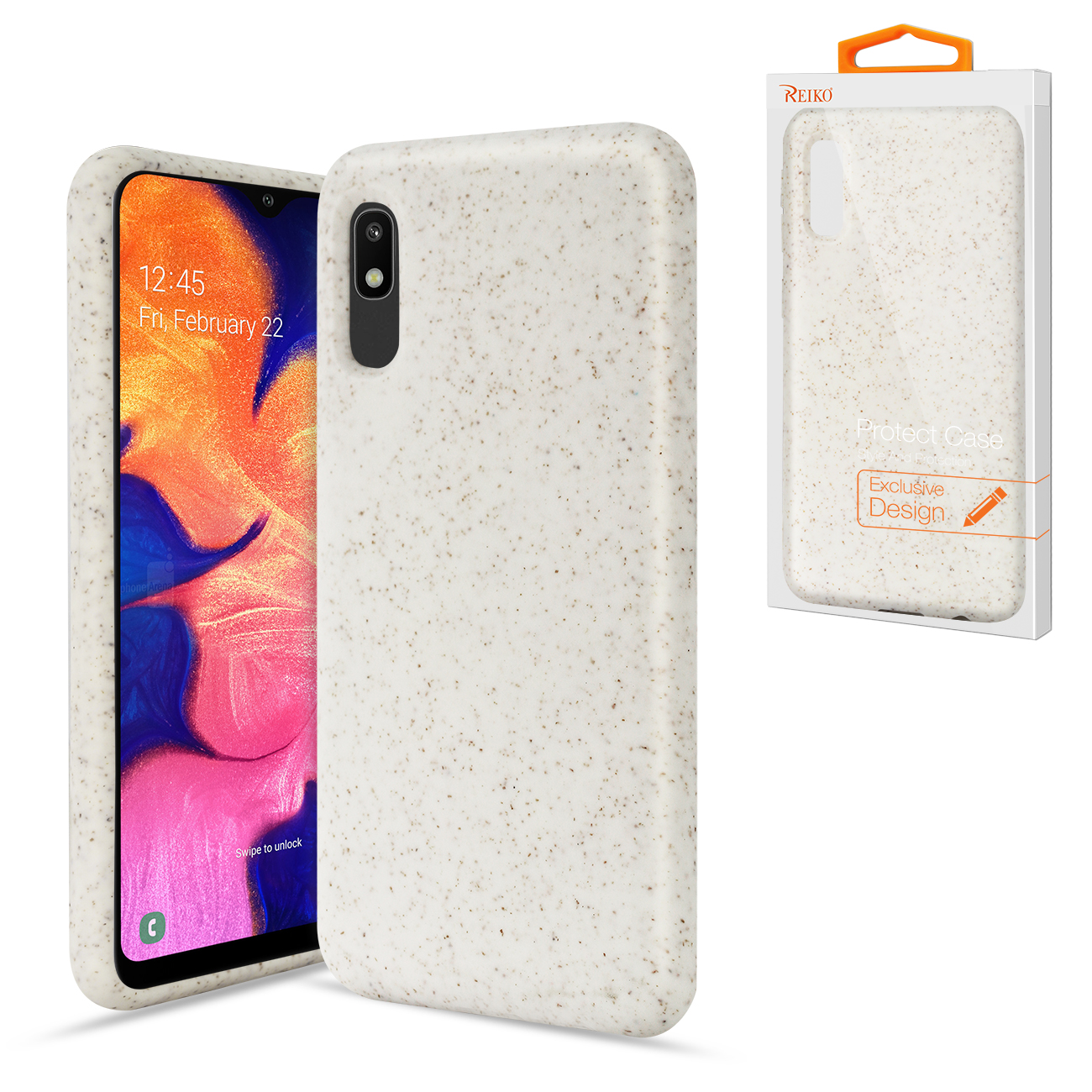 SAMSUNG GALAXY A10E Wheat Bran Material Silicone Phone Case In White