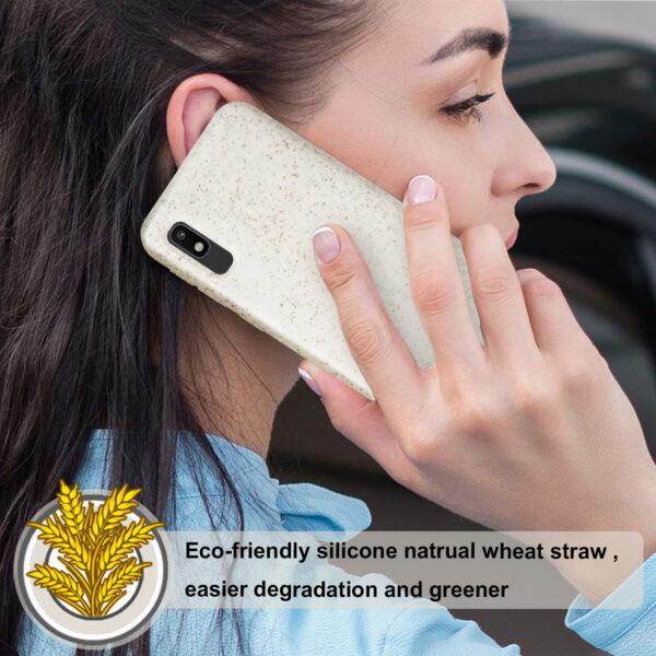 Reiko SAMSUNG GALAXY A10E Wheat Bran Material Silicone Phone Case In White