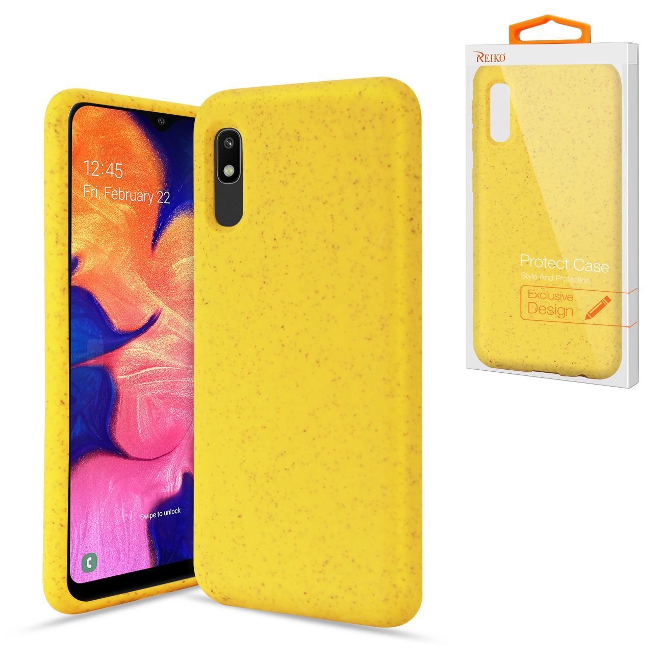 SAMSUNG GALAXY A10E Wheat Bran Material Silicone Phone Case In Yellow