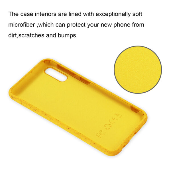 Reiko SAMSUNG GALAXY A10E Wheat Bran Material Silicone Phone Case In Yellow