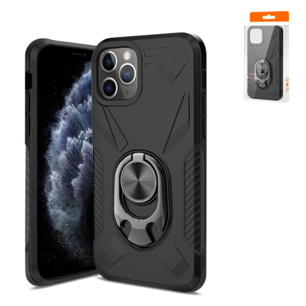 APPLE IPHONE 11 PRO Case with Ring Holder In Black