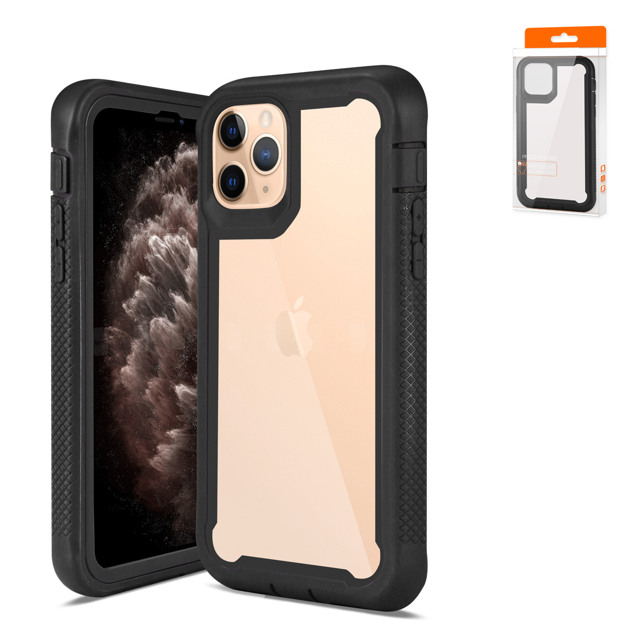 APPLE IPHONE 11 PRO MAX Bumper Case In Black And Clear