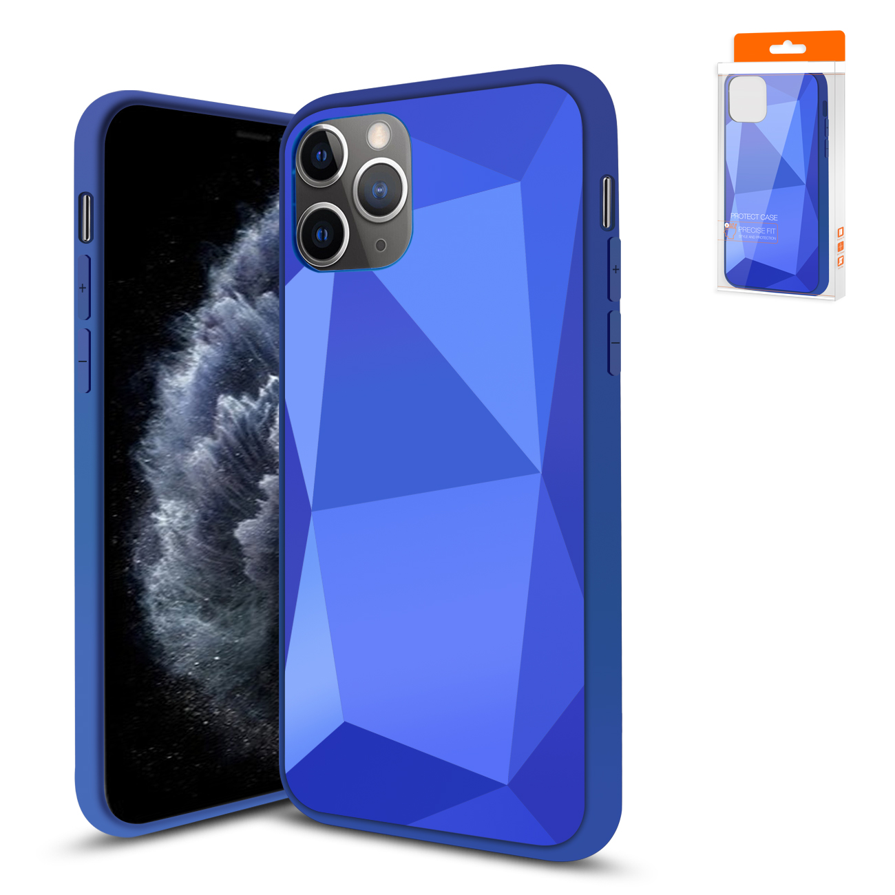 Apple iPhone 11 Pro Max Apple Diamond Cases In Blue