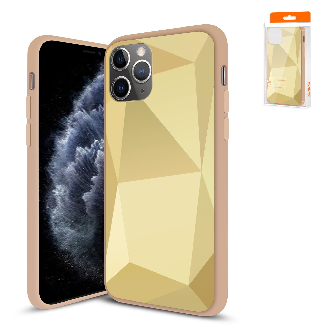 Apple iPhone 11 Pro Max Apple Diamond Cases In Gold