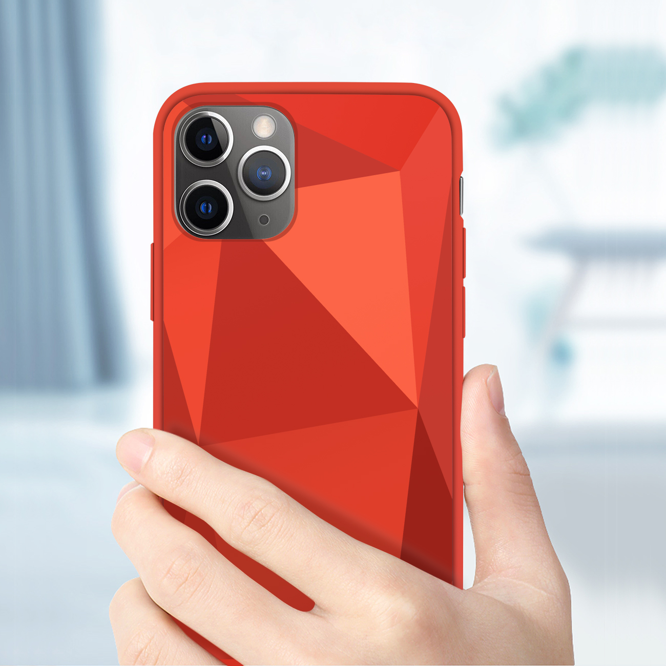 Apple iPhone 11 Pro Max Apple Diamond Cases In Red