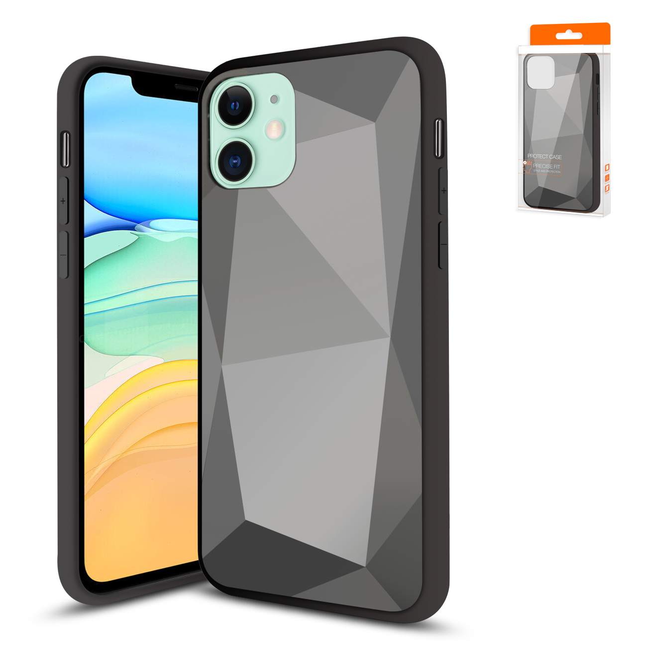 Apple iPhone 11 Apple Diamond Cases In Black