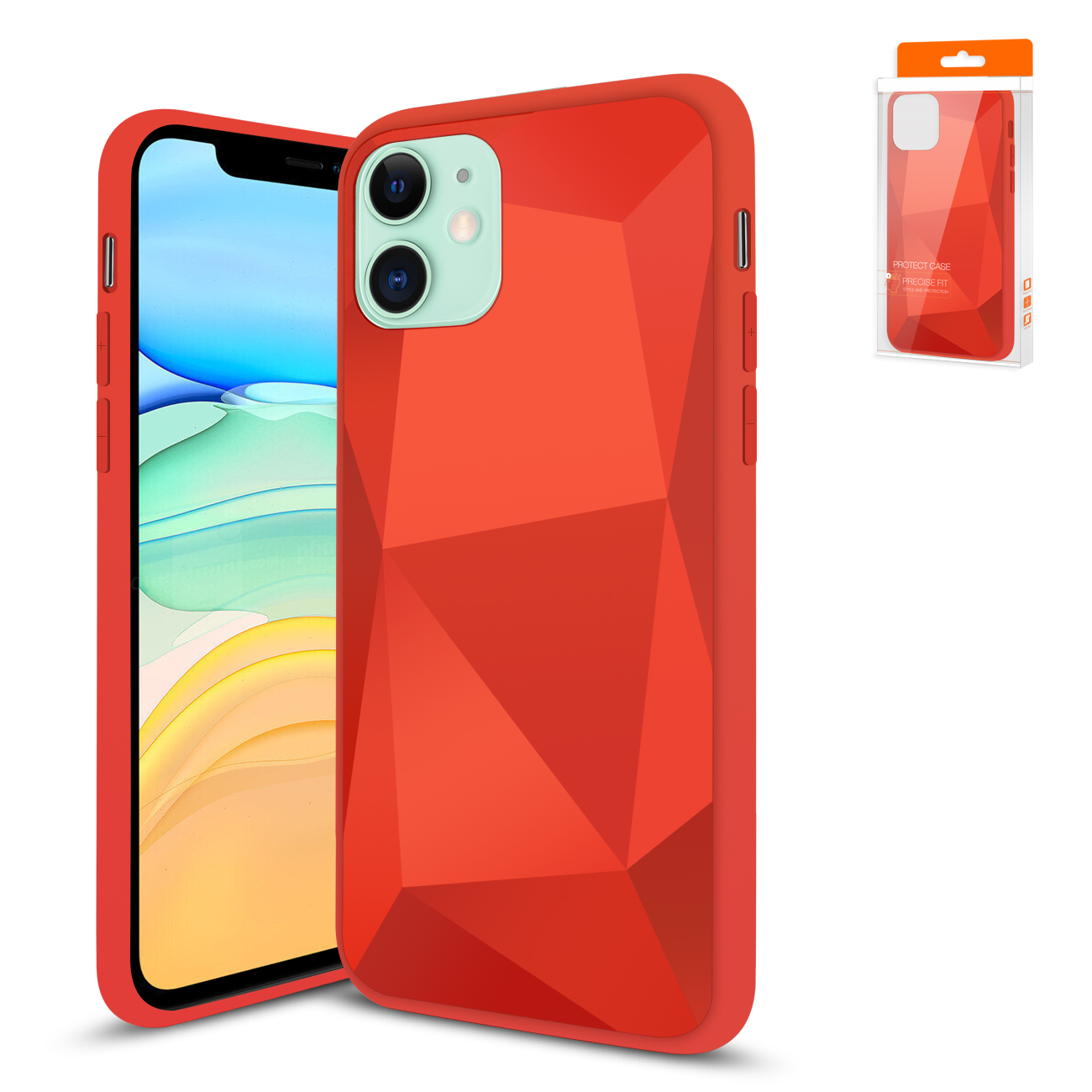 Apple iPhone 11 Apple Diamond Cases In Red