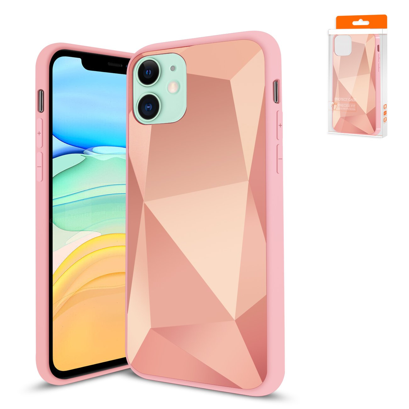 Reiko Apple iPhone 11 Apple Diamond Cases In Rose Gold