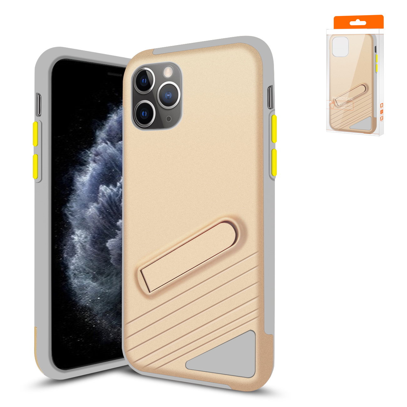 Apple iPhone 11 Pro Max Armor Cases In Gold