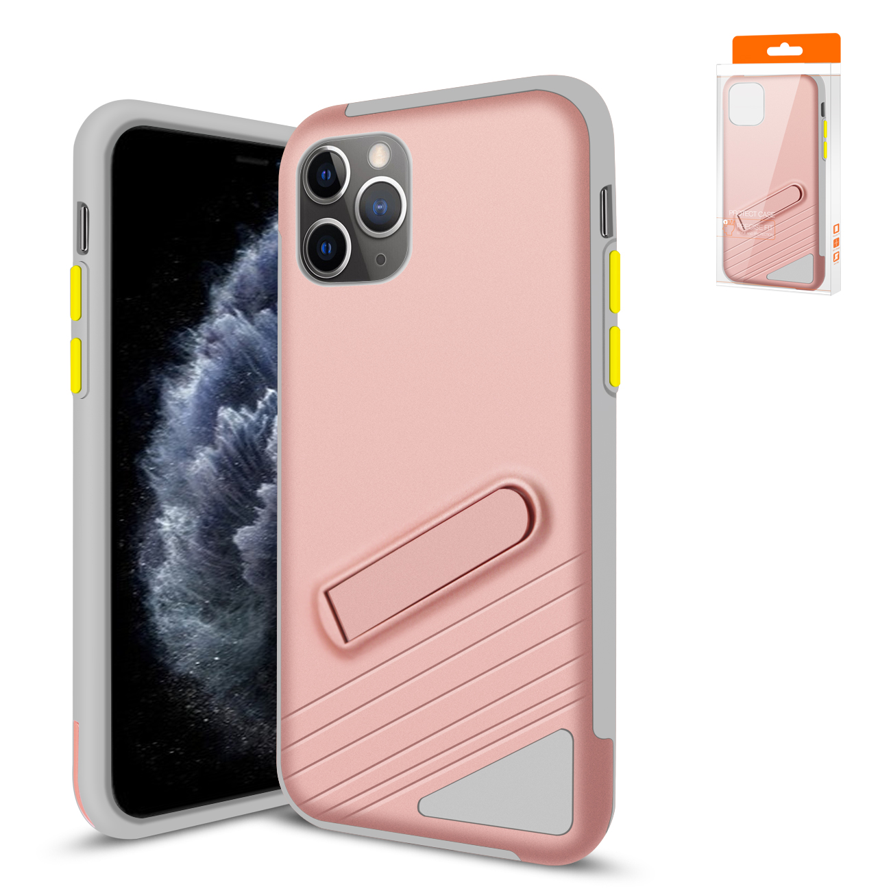 Reiko Apple iPhone 11 Pro Max Armor Cases In Rose Gold